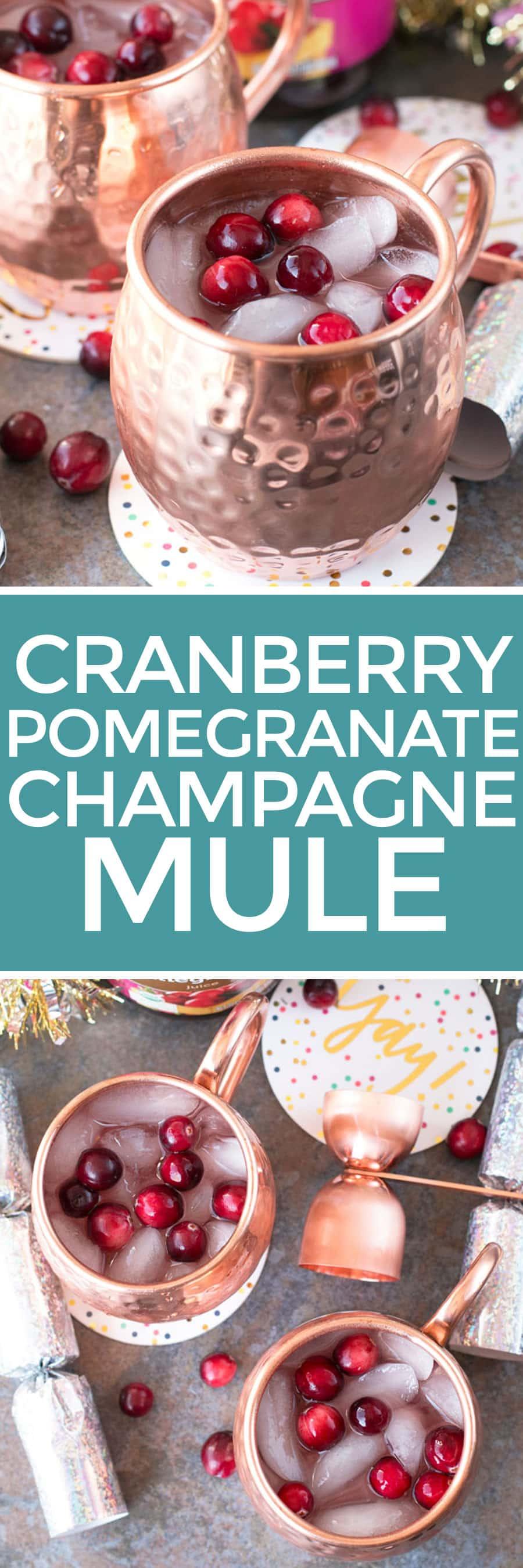 Cranberry Pomegranate Champagne Mule | cakenknife.com