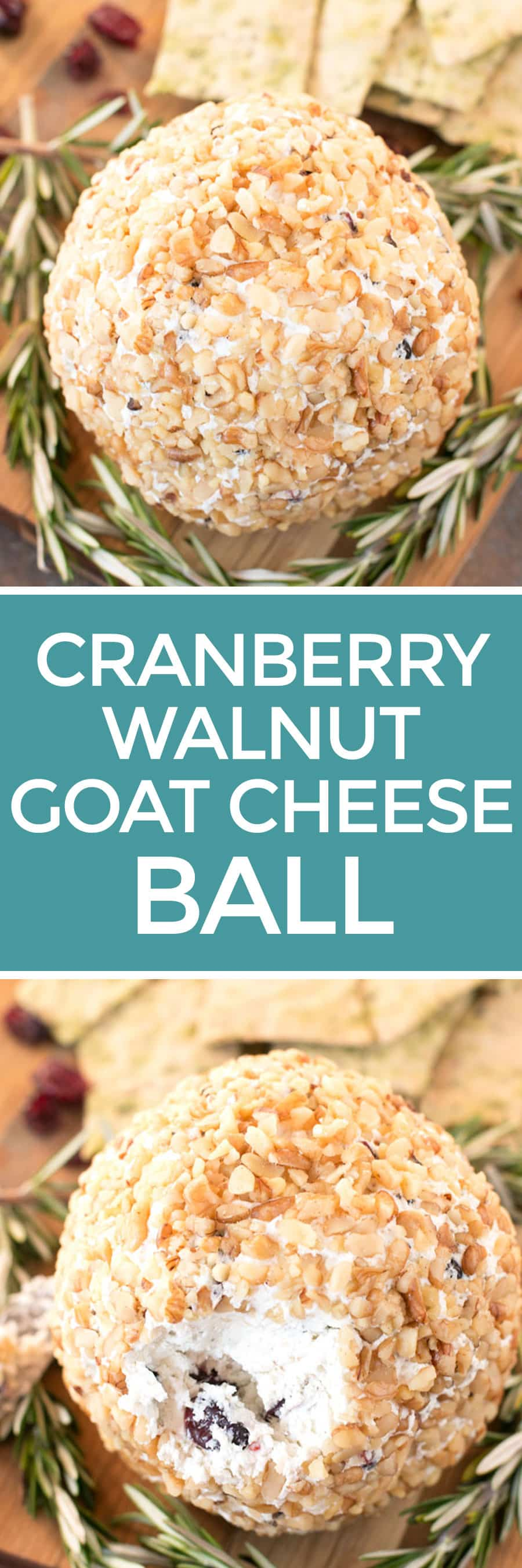 Cranberry Walnut Goat Cheese Ball | cakenknife.com
