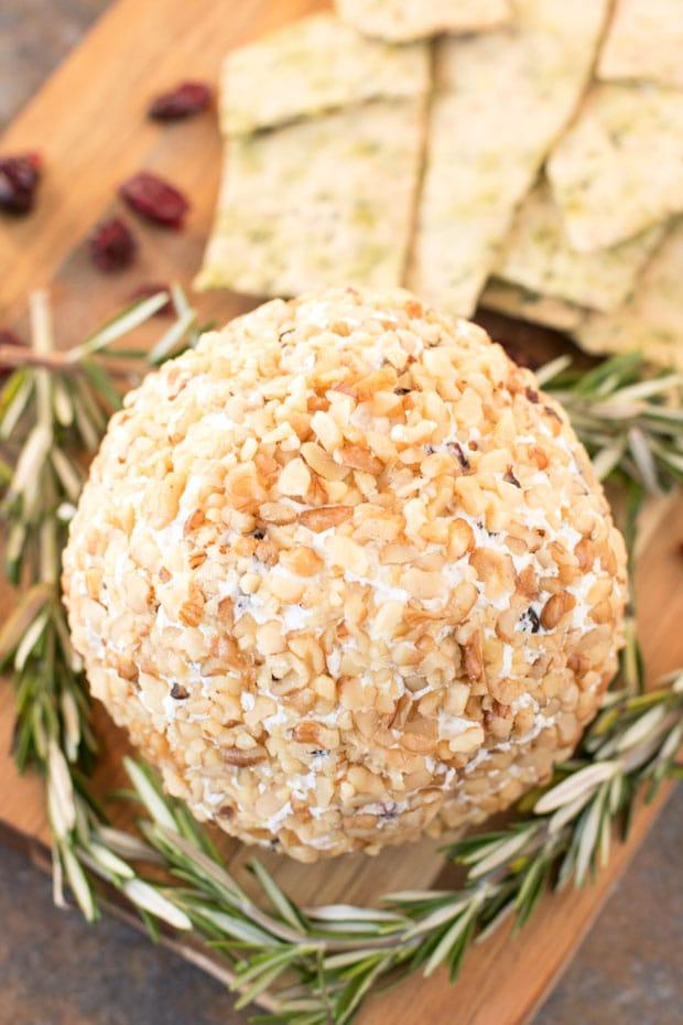 Cranberry Walnut Goat Cheese Ball   cakenknife.com