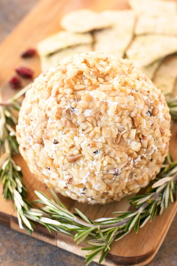Cranberry Walnut Goat Cheese Ball | cakenknife.com