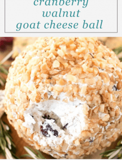 Cranberry Walnut Goat Cheese Ball Pinterest Picture