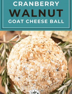 Cranberry Walnut Goat Cheese Ball Pinterest Image