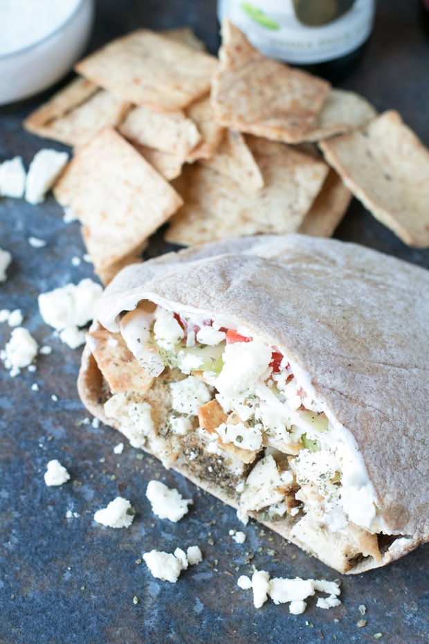 Crunchy Chicken Gyro Sandwiches | cakenknife.com