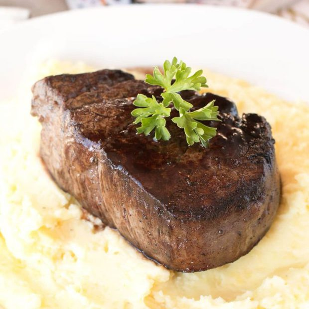 Filet Mignon with Port Sauce and Truffle Mashed Potatoes