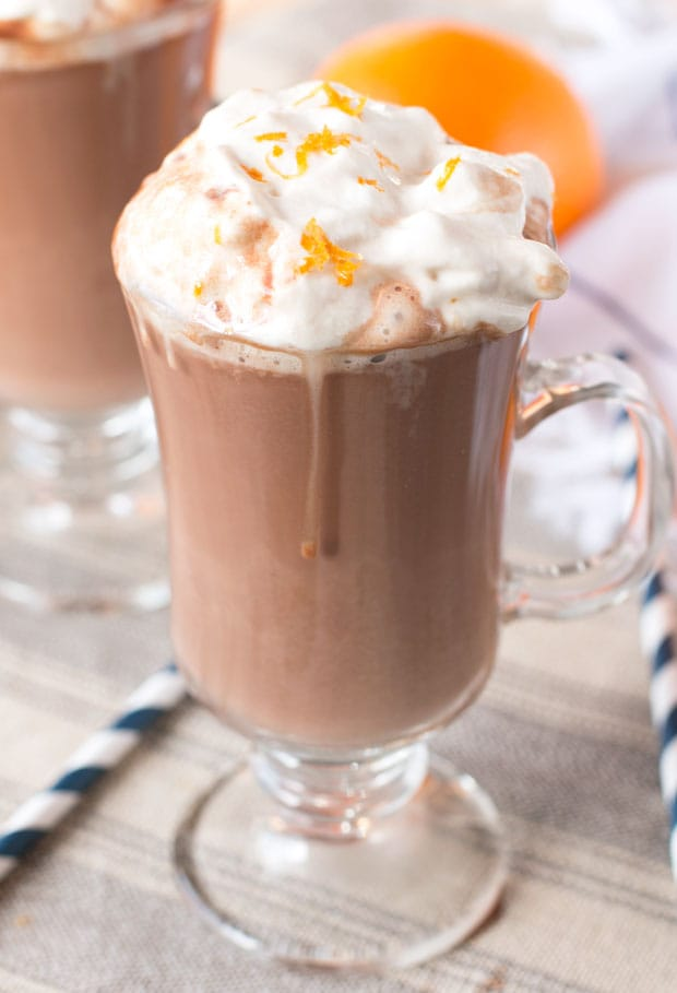 Hot Orange Mocha Cocktail with Espresso Whipped Cream | cakenknife.com