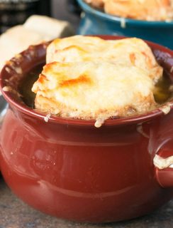 Irish Stout French Onion Soup   cakenknife.com