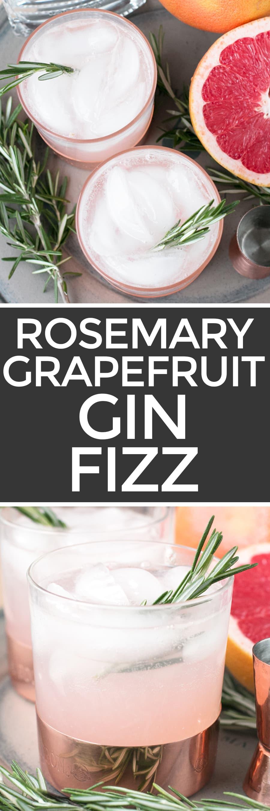 Rosemary Grapefruit Gin Fizz – Cake 'n Knife