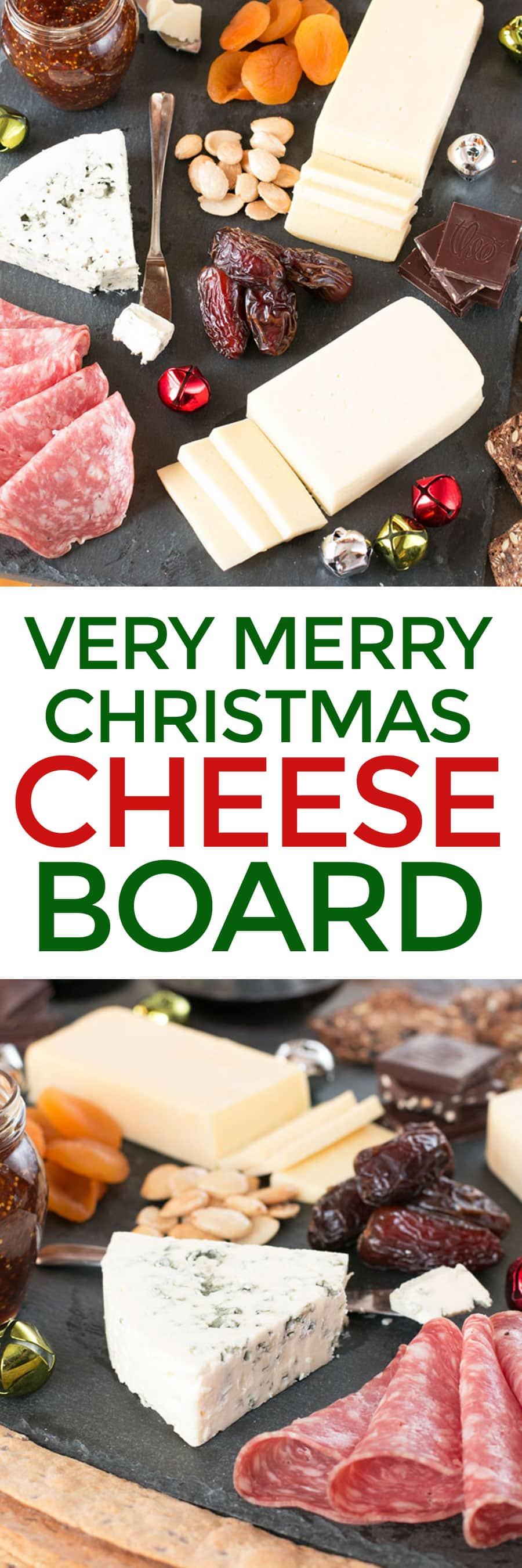 Very Merry Christmas Cheese Board | cakenknife.com