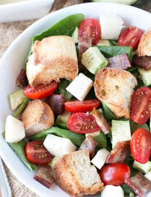 Avocado Caprese Panzanella Salad   cakenknife.com