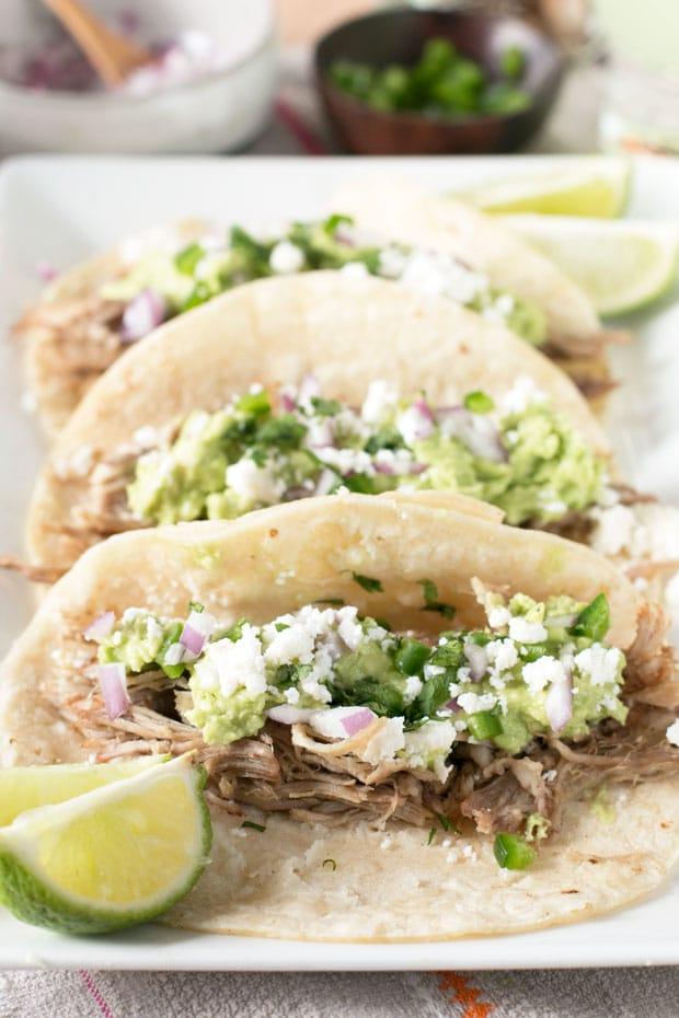 Tequila Lime Pulled Pork Tacos | cakenknife.com