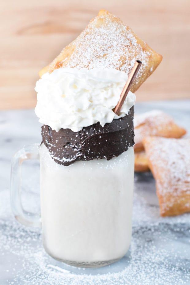 Beignet and Coffee Cocktail Shake   cakenknife.com #recipe #drink #milkshake