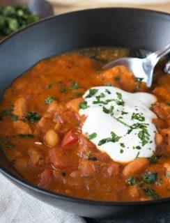 Tikka Masala Chicken Chili | cakenknife.com #soup #dinner #recipe