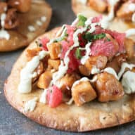 Citrus Jalapeno Chicken Tostadas | cakenknife.com #dinner #recipe