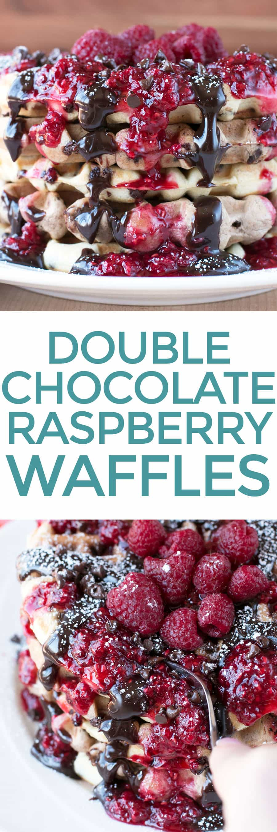 Double Chocolate Chip Raspberry Waffles – Cake 'n Knife