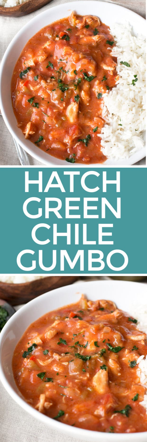 Hatch Green Chile Gumbo | cakenknife.com #mardigras, #dinner #soup