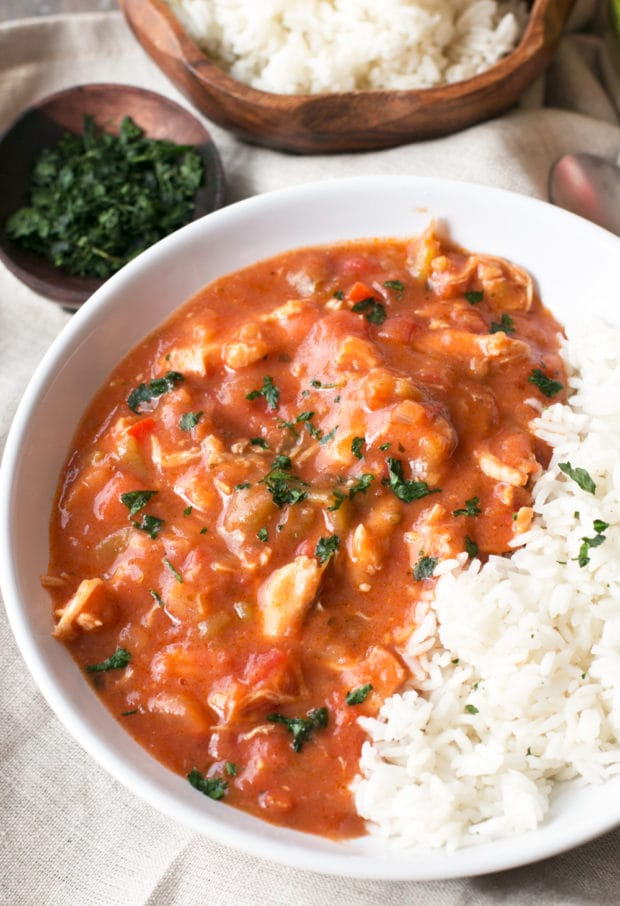Hatch Green Chile Gumbo   cakenknife.com #mardigras, #dinner #soup
