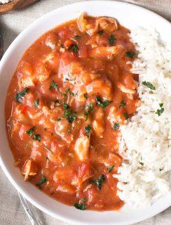 Hatch Green Chile Gumbo | cakenknife.com #mardigras, #dinner #soup