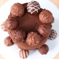 Red Velvet Truffle Cake for Two   cakenknife.com
