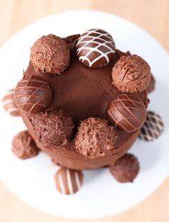 Red Velvet Truffle Cake for Two | cakenknife.com