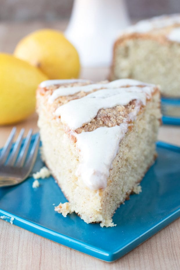 Almond Butter Yogurt Coffee Cake | cakenknife.com @stonyfield #breakfast #brunch #baking