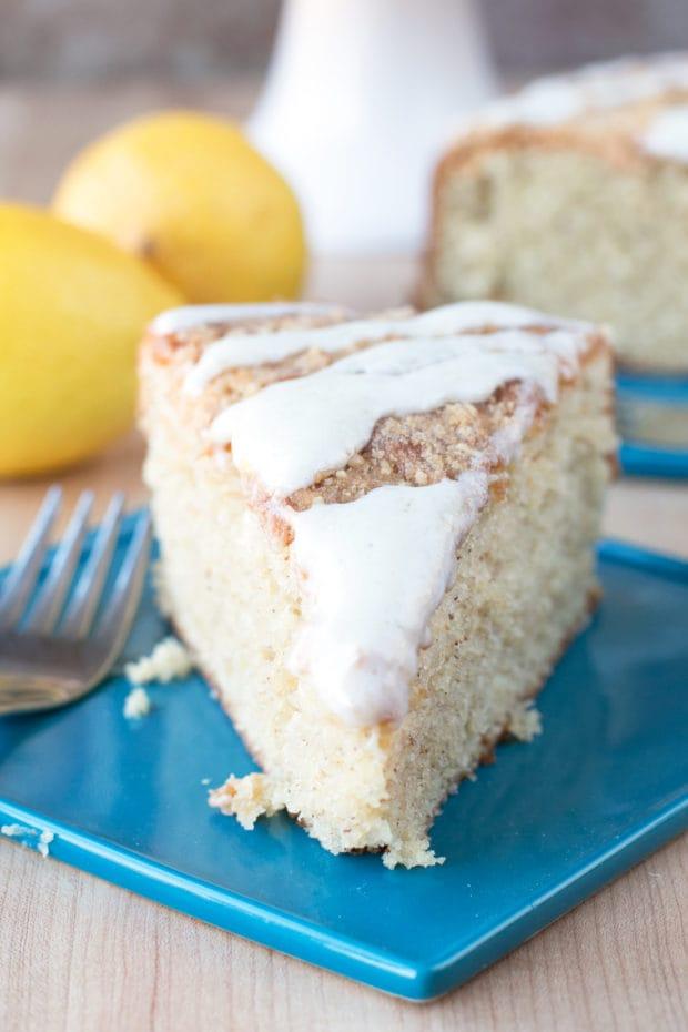 Almond Butter Yogurt Coffee Cake | cakenknife.com @stonyfield #breakfast #brunch #baking