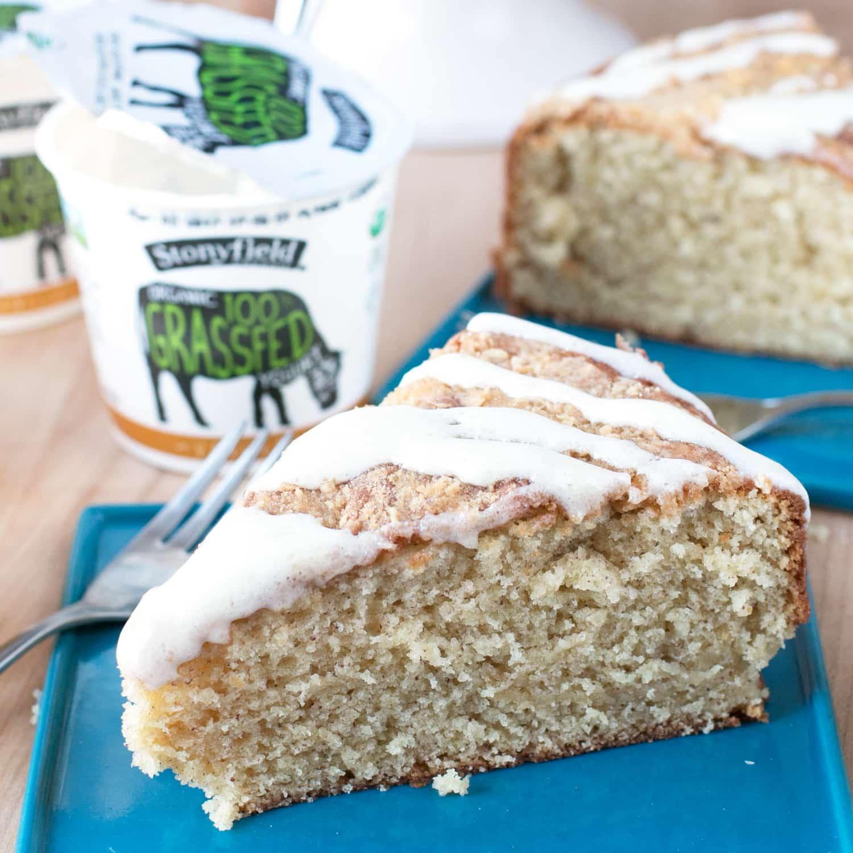 Almond Butter Yogurt Coffee Cake - Cake 'n Knife