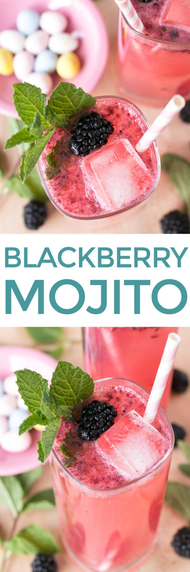 Blackberry Mojito | cakenknife.com #cocktail #rum #spring #summer