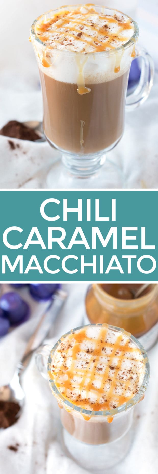 Chili Caramel Macchiato | cakenknife.com #coffee #espresso