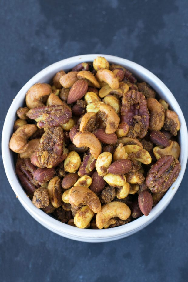 Curried Nut Mix | cakenknife.com #snack #trailmix #recipe