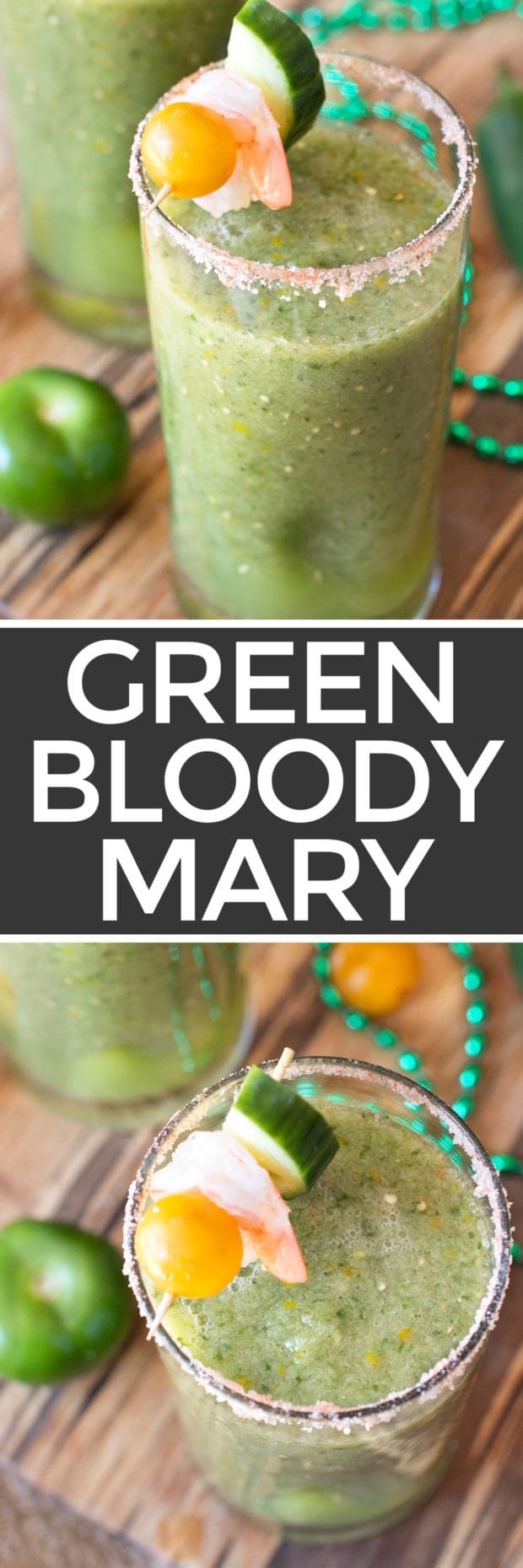 Spicy Green Bloody Mary | cakenknife.com #brunch #bloodymary