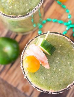 Spicy Green Bloody Mary   cakenknife.com #brunch #bloodymary