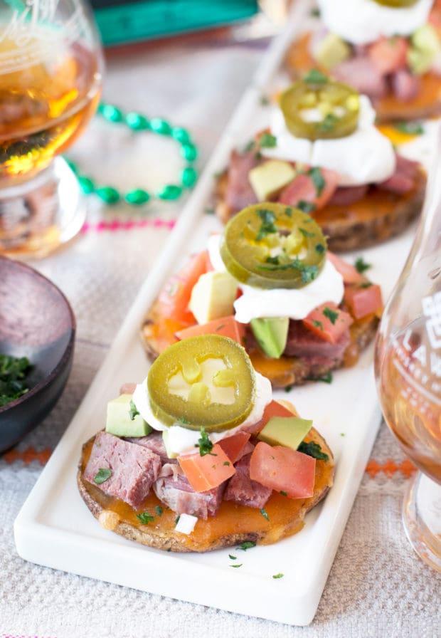 Irish Corned Beef Nacho Bites | cakenknife.com #appetizer #party