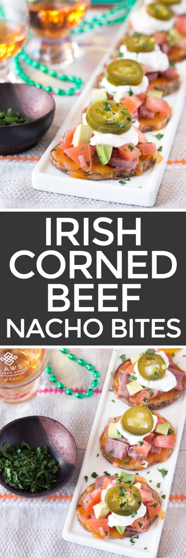 Irish Corned Beef Nacho Bites   cakenknife.com #appetizer #party