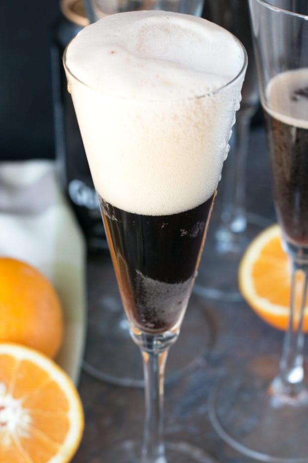 Orange Black Velvet | cakenknife.com #stpatricksday #guinness #cocktail