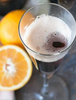 Orange Black Velvet | cakenknife.com #stpatricksday #guinness #cocktail
