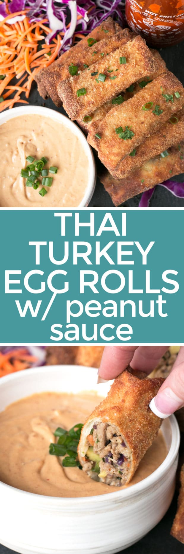 Thai Turkey Avocado Egg Rolls | cakenknife.com #appetizer