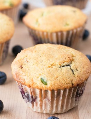 Blueberry Jalapeno Bacon Cornbread Muffins | cakenknife.com #breakfast #brunch