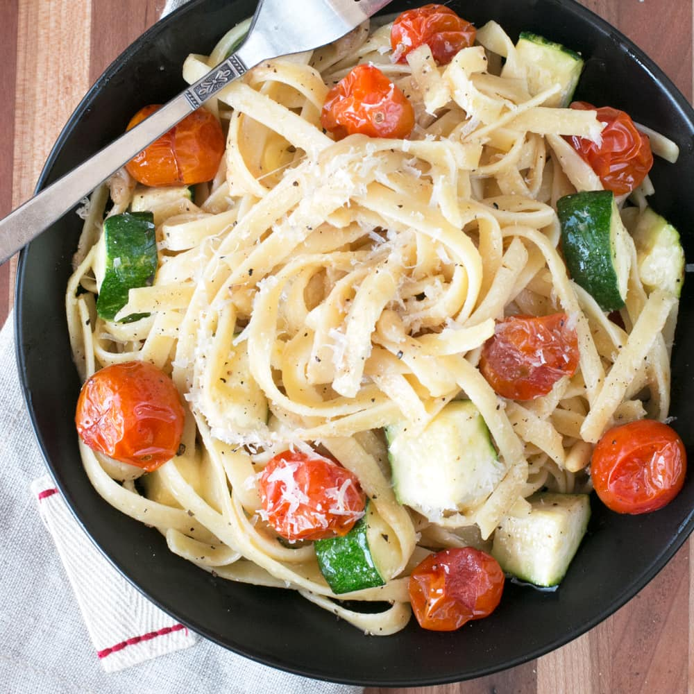 Brown Butter Spring Vegetable Fettuccine – Cake 'n Knife