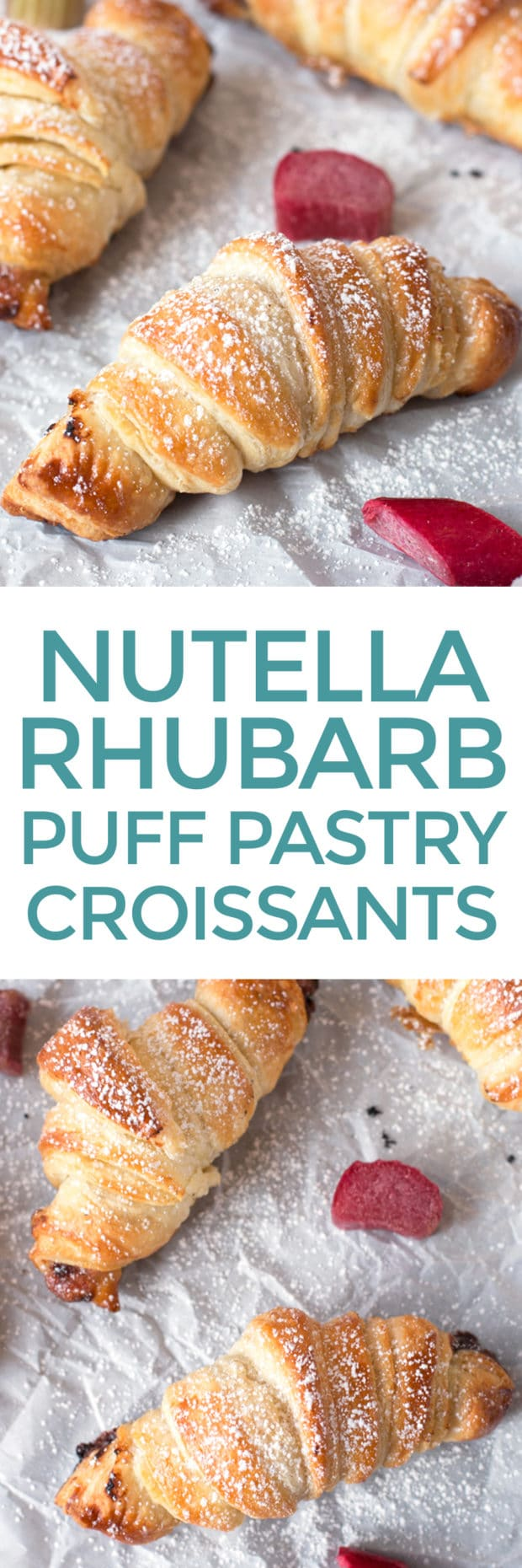 Nutella Rhubarb Puff Pastry Croissants Cake N Knife