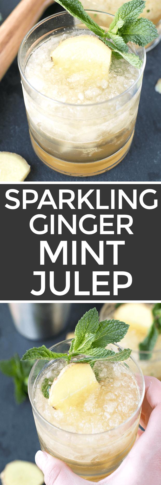 Sparkling Ginger Mint Julep   cakenknife.com #cocktail #Derby #mint