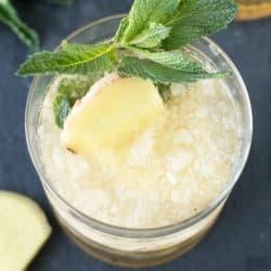 Sparkling Ginger Mint Julep | cakenknife.com #cocktail #Derby #mint