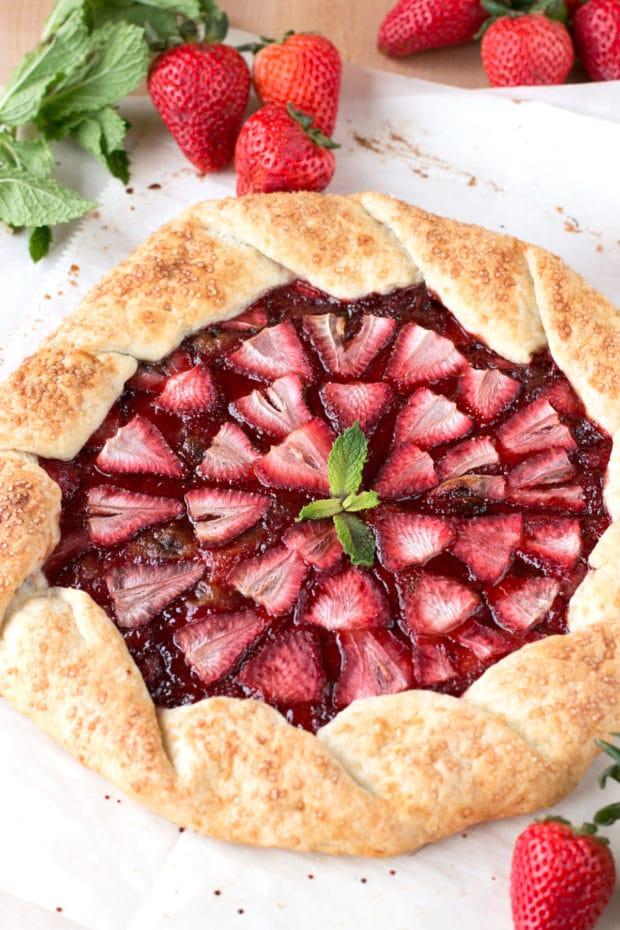 Strawberry Mint Champagne Galette | cakenknife.com