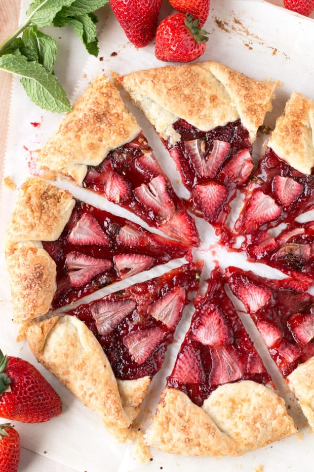 Strawberry Mint Champagne Galette | cakenknife.com