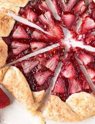Strawberry Mint Champagne Galette   cakenknife.com