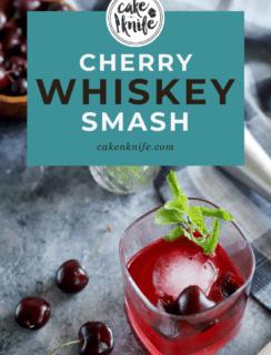 Cherry Whiskey Smash Pinterest Image
