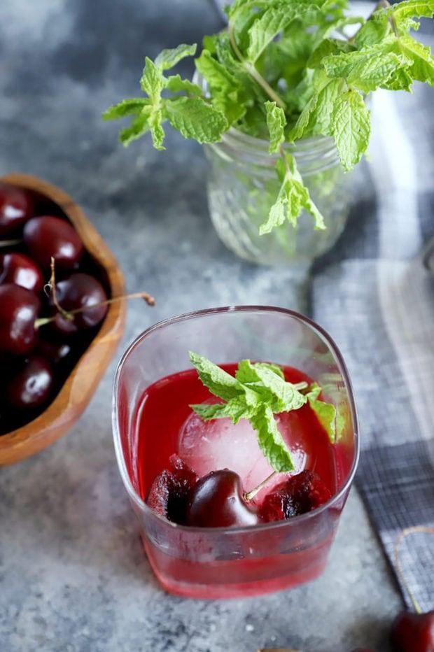 Cherry Whiskey Smash cocktail image