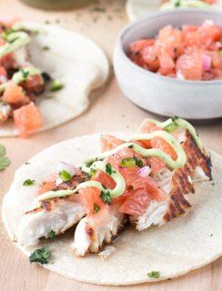 Grilled Chile Vodka Fish Tacos | cakenknife.com #summer #taco #recipe