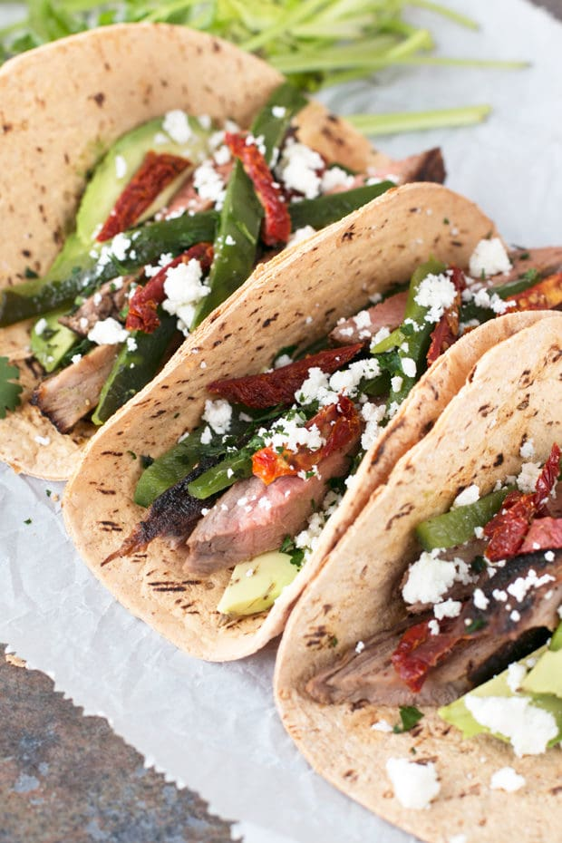 Grilled Flank Steak Poblano Tacos   cakenknife.com #grilling #grill