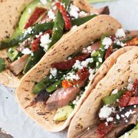 Grilled Flank Steak Poblano Tacos