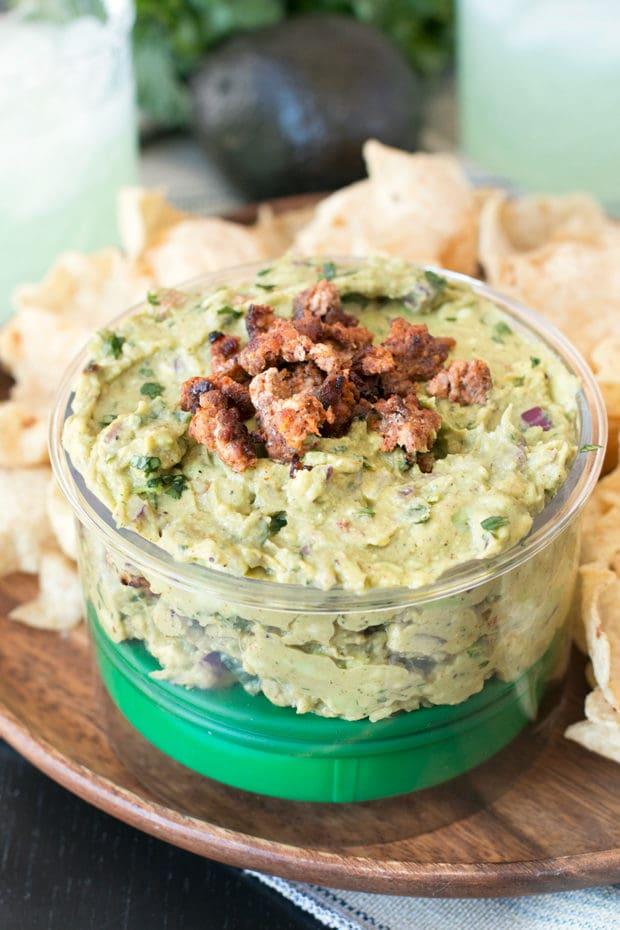 Chipotle Chorizo Guacamole | cakenknife.com